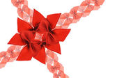 Decorative red bows — Stock Photo