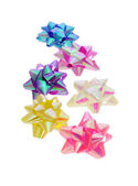 Decorative color bows — Stock Photo