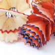 Close up of pencil shavings — Stock Photo