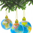 Chirstmas globe ornaments - Stock Photo