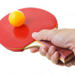 Hand hodling table tennis bat — Stock Photo