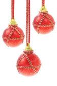 Tři vánoční ozdoby — Stock fotografie