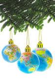 Chirstmas globe ornaments — Stock Photo