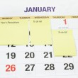 New year's planning — Stock Photo