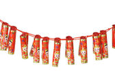 Chinese new year fire craker ornaments — Stock Photo