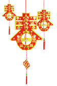 Three Chinese new year ornaments — Stock Photo