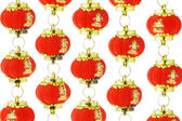 Red Chinese lantern ornaments — Stock Photo