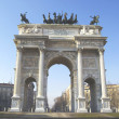 Milan - Arco della pace — Stock Photo