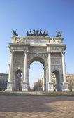 Milão - arco della pace — Fotografia Stock