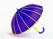 Komik mavi şemsiye — Stok fotoğraf