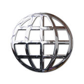 Chrome World Wide Web globe symbol — Stock Photo