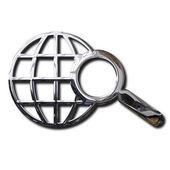 Chrome World Wide Web search symbol — Stock Photo