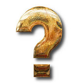 Golden question mark symbol — Stock Photo