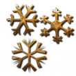 Golden snowflakes — Stock Photo #6105927