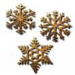 Golden snowflakes — Stock Photo #6105928