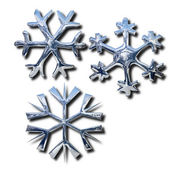 Chrome snowflakes — Stock Photo