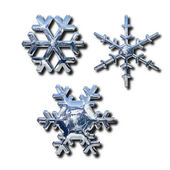Chrome snowflakes — Stockfoto