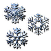 Chrome snowflakes — Foto Stock