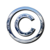 Chrome copyright symbol — Foto de Stock