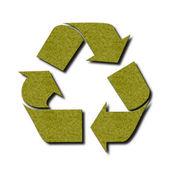 Yeşil keçe geri dönüşüm sembolü — Stok fotoğraf