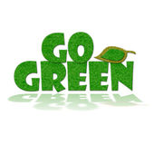 Go Green Sign — Foto Stock