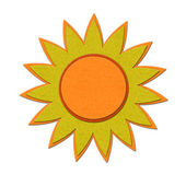 Felt sun illustration — Stock Photo
