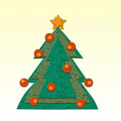 Felt Christmas tree — Foto de Stock