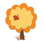 Fieltro árbol de otoño — Foto de Stock