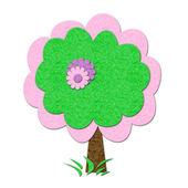 Filz Frühjahr Baum — Stockfoto