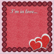 Valentine's day felt greeting card - Stock Photo