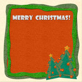 Merry Christmas greeting card — Foto Stock