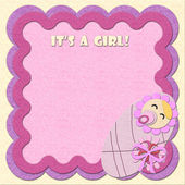 """It's a girl!"" greeting card — Foto de Stock"