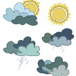 Stock Photo: Illustration of different weather conditions