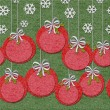Royalty-Free Stock Photo: Christmas seamless felt background border