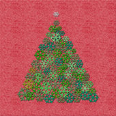 Felt Christmas tree — Stock Photo