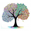 Illustration of four seasons tree — Stock Photo #6292138