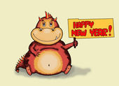 2012 Year of a dragon illustration — Foto Stock