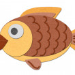 Felt fish illustration - Stock Photo