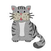 Ilustração de um gato de feltro — Foto Stock