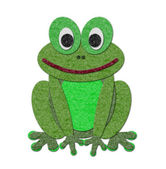 Felt frog illustration — Stock Photo