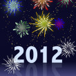 2012 Happy New Year - Stock Photo