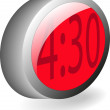 3d alarm clock — Stock Vector