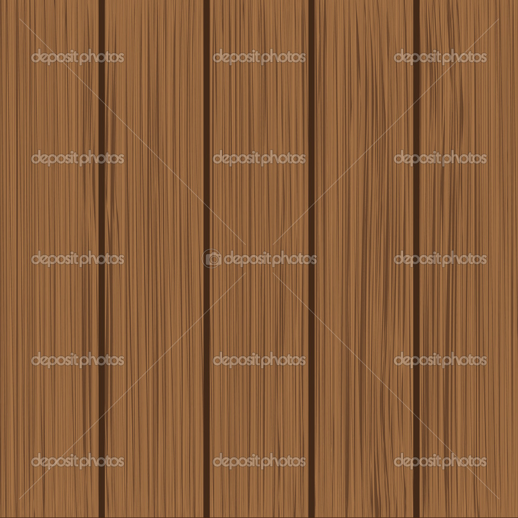 Five wooden planks on a dark background  Stock Vector #6124449