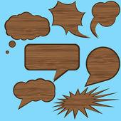 Discurso de madera — Vector de stock