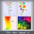 Abstract background set of 4 — Stock Vector