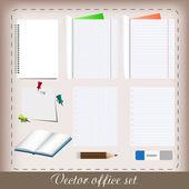 Conjunto de escritório — Vetorial Stock