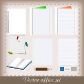 Office set — Stockvektor