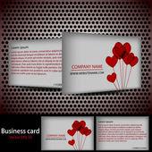 Wektor miłość wizytówkę do projektowania — Wektor stockowy