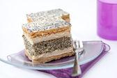 French poppy seed cake — Stock Photo