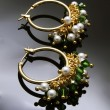 Stock Photo: Handmade earrings with gemstones